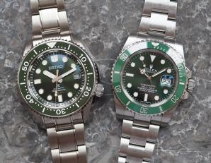 Rolex Submariner Hulk versus Seiko SLA019