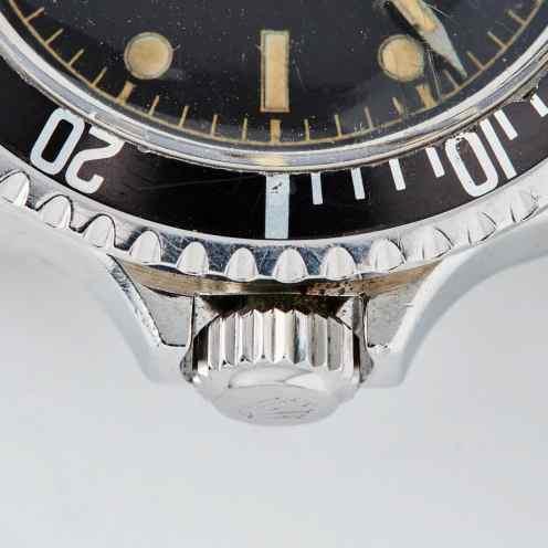 1110-Rolex Submariner Square Crowns Close-Up 2