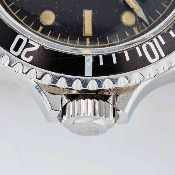 1110-Rolex Submariner Square Crowns Close-Up 2