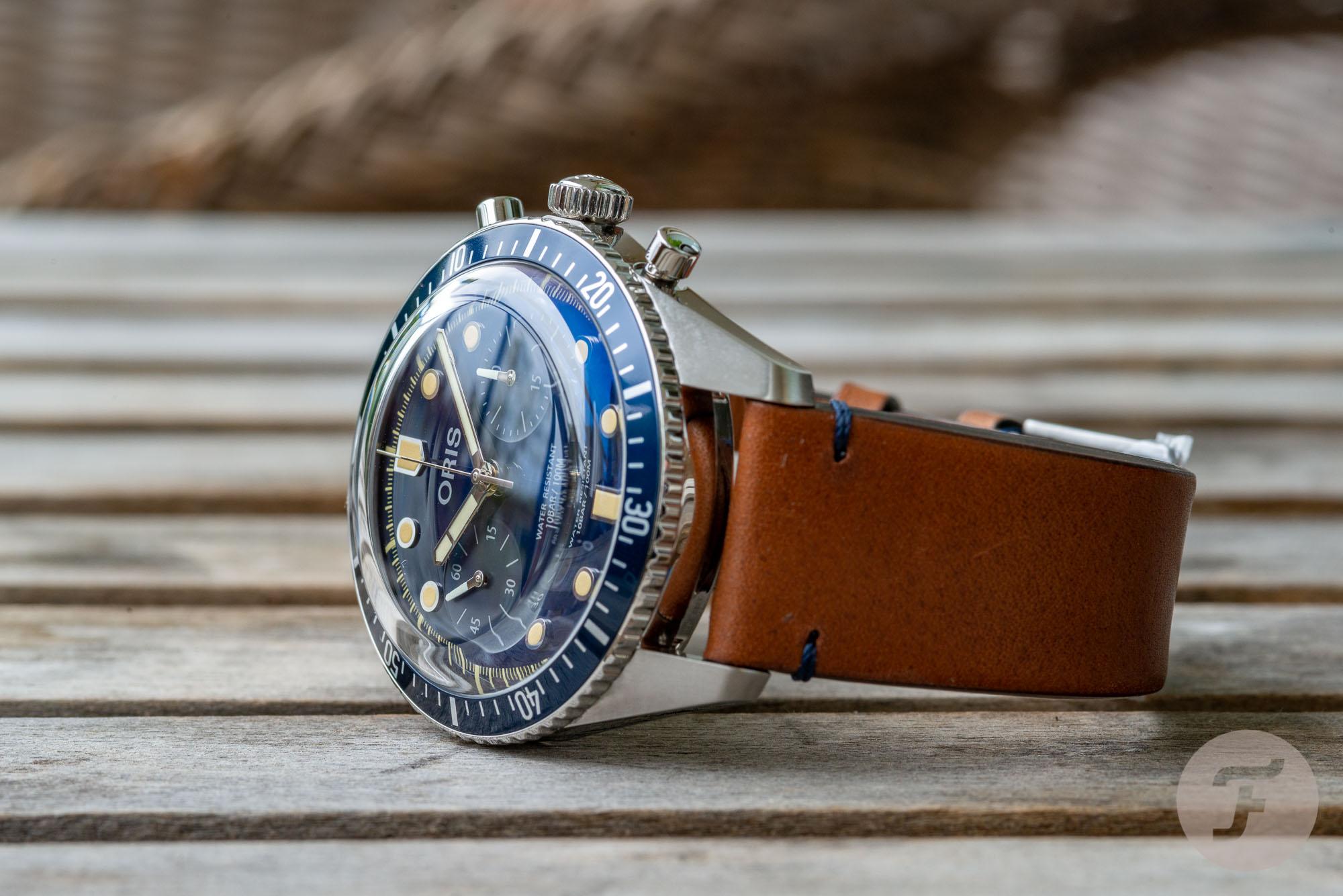Review: Oris Divers Sixty-Five Chronograph Bucherer Blue