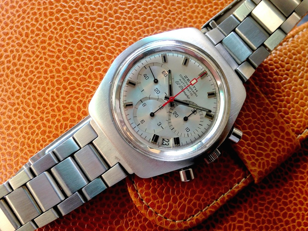 Here's an early 70's Zenith El Primero A787 - it has all the positive qualities of the far more expensive A386 (photo credit: @watchfred)