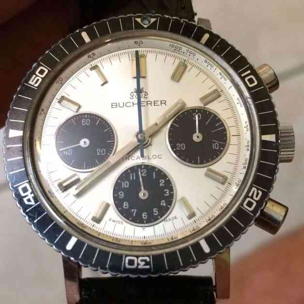 A Bucherer Chronograph using the same case as the Croton Skymaster (photo credit: ebay.com)
