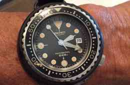 Seiko 6159 Tuna on the wrist