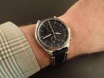 A favorite chronograph of the Rover Haven owner, the Seiko 6138-3000