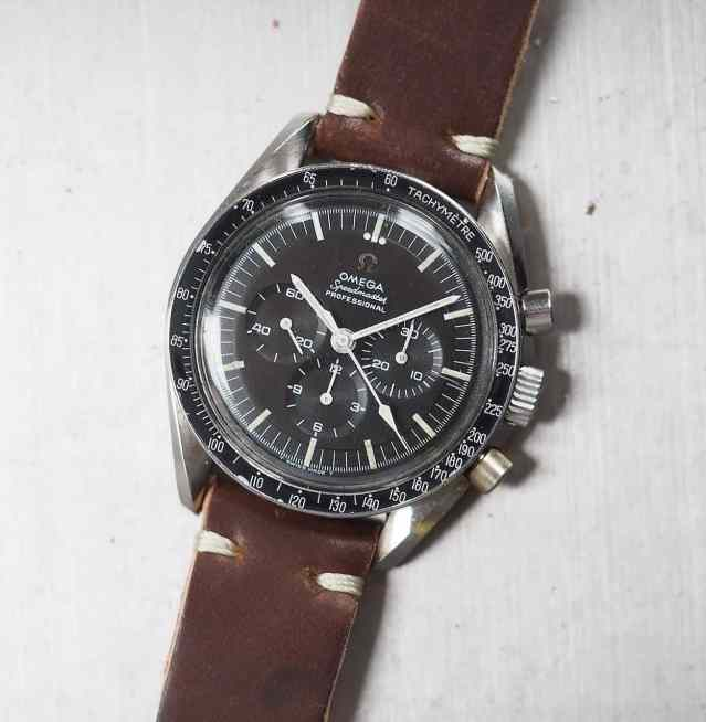 My Omega Speedmaster 145.012 on a saddle stitched 20mm strap from Rover Haven in Cognac Horween shell cordovan
