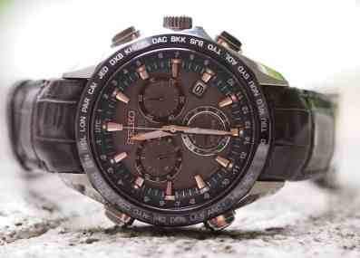 Seiko Astron dial in different lighting