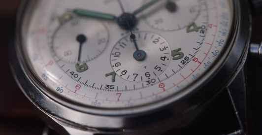 Gallet Multichron dial detail