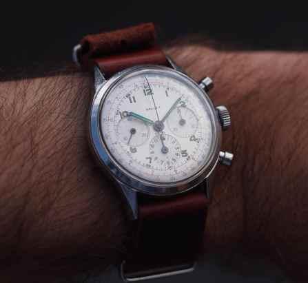 Gallet Multichron on the wrist