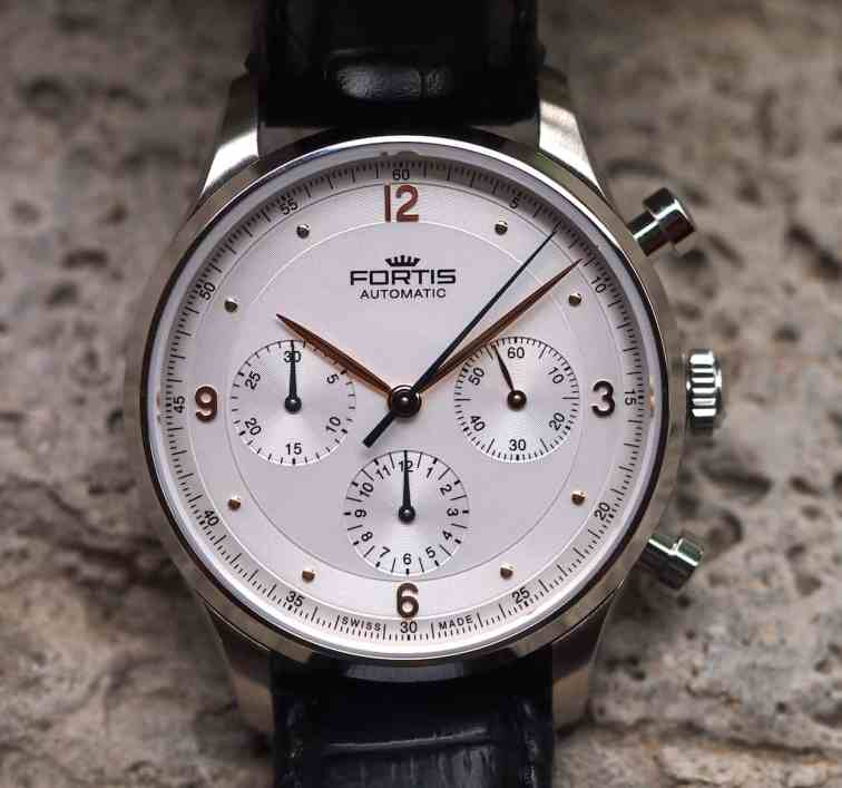 Fortis Tycoon rose gold plated details
