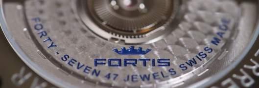 Fortis Tycoon blue inscription