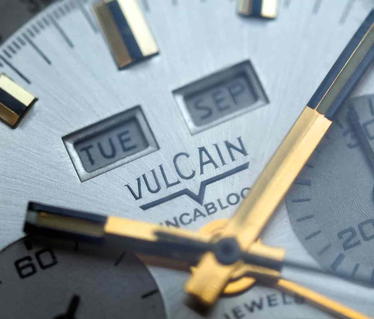 Vulcain Triple Date dial macro
