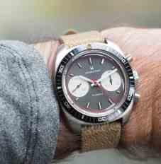 Hamilton Chrono-Diver on the wrist