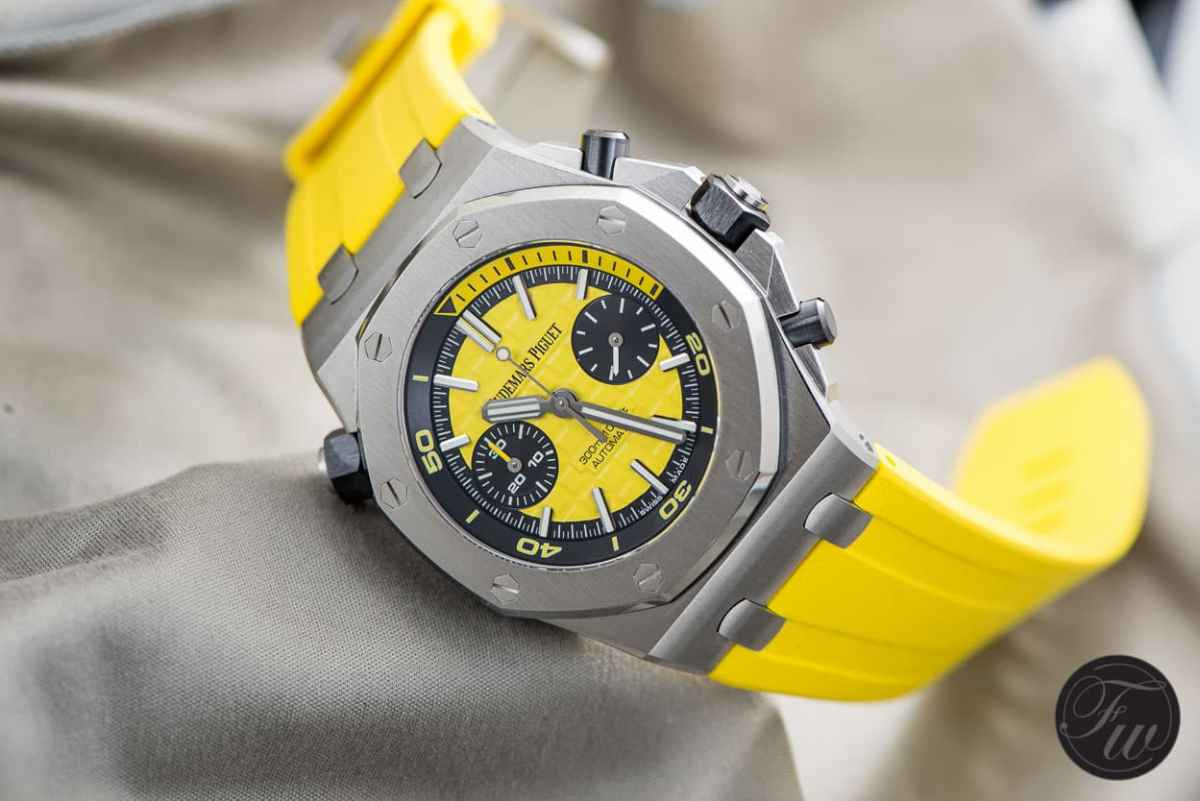 Audemars Piguet Royal Oak Offshore Diver in yellow color