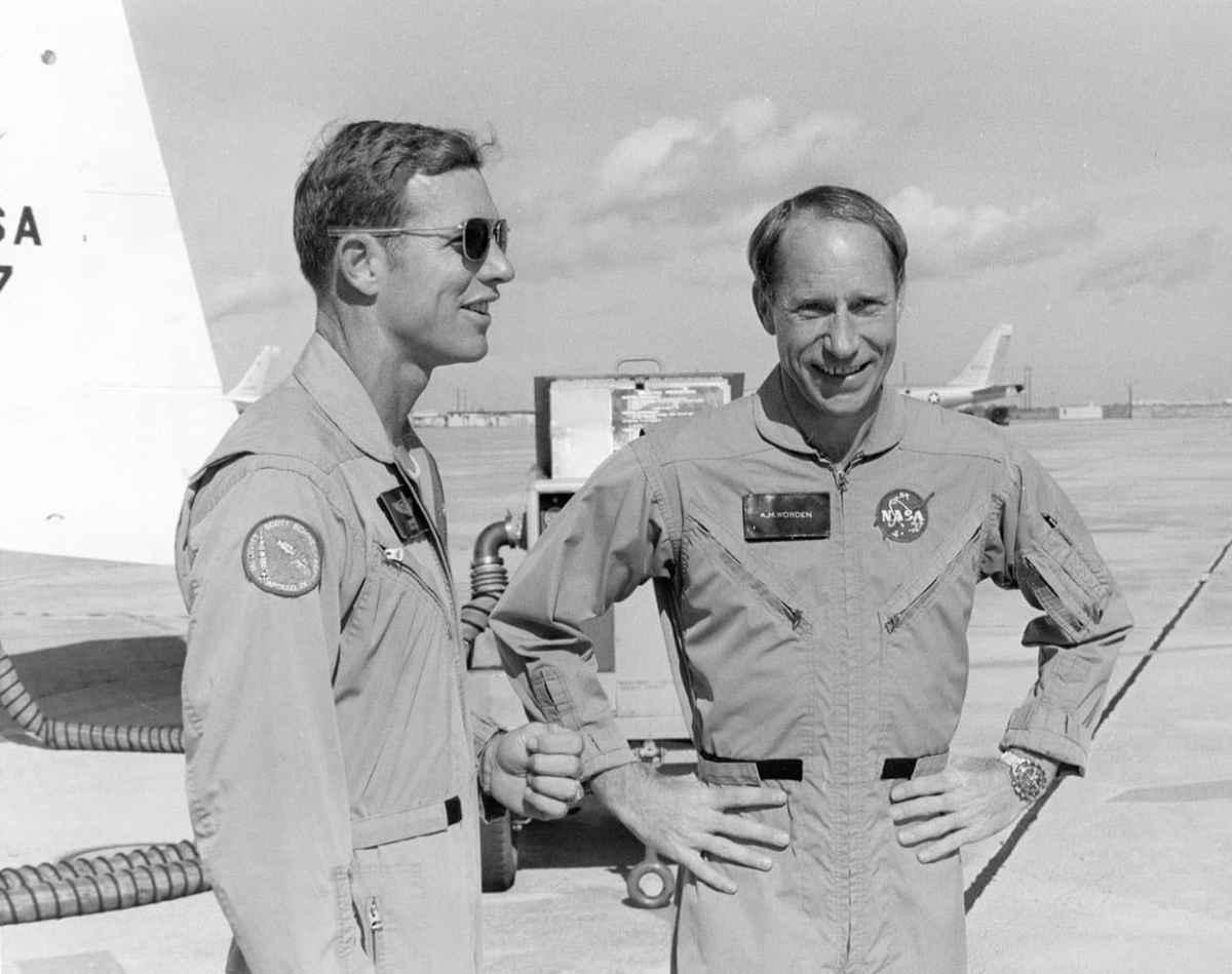 Apollo 15 Astronaut David Scott and Alfred Worden