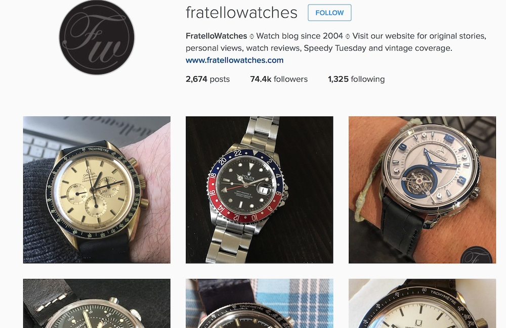 "Instagram continues to ""blow up"" and provide a simple showcase for vintage watches"