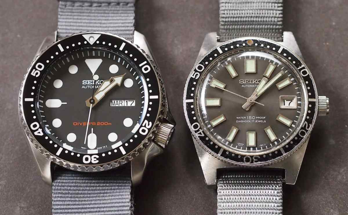 Seiko SKX007 and Seiko 62MAS