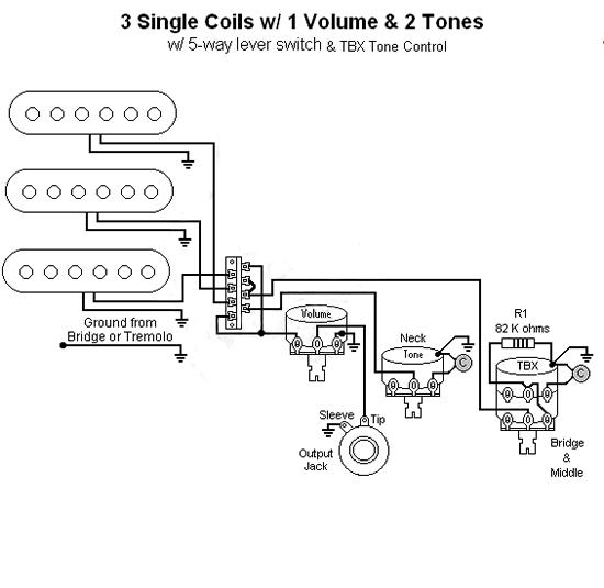 B Guitar Fender Tbx Tone Control Wiring Diagram Fender No