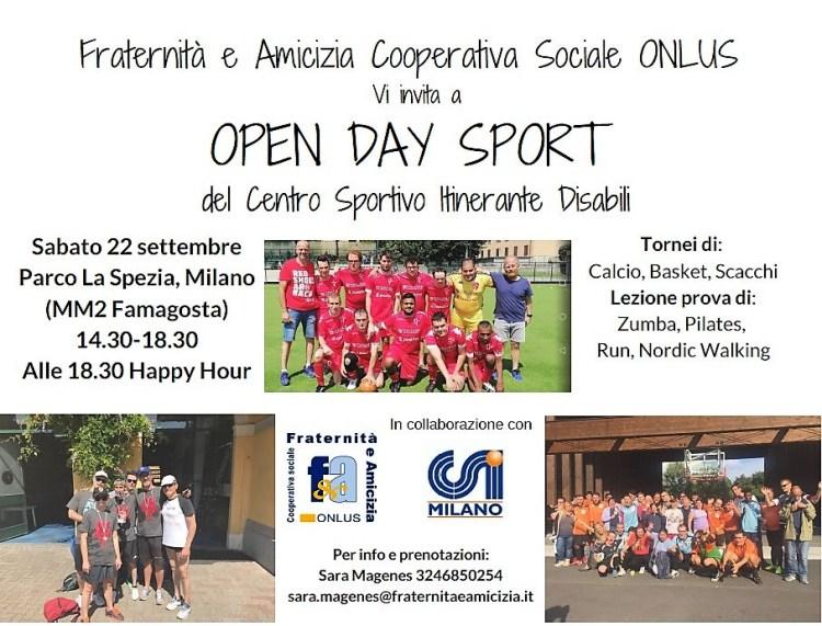 Invito Open Day Sportivo