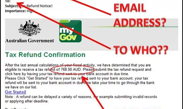 Discovery of a Scam Email