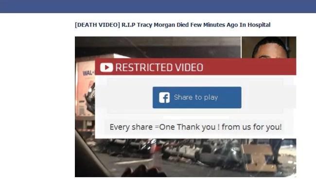 Tracy Morgan Facebook