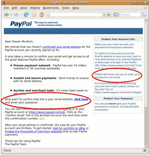 PayPal Password Change