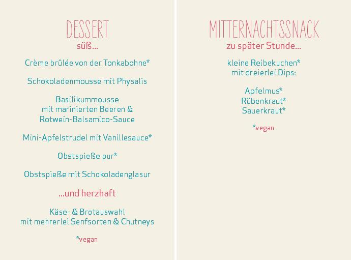 vegetarisches veganes Hochzeitsbuffet  Frau Immer  Herr Ewig