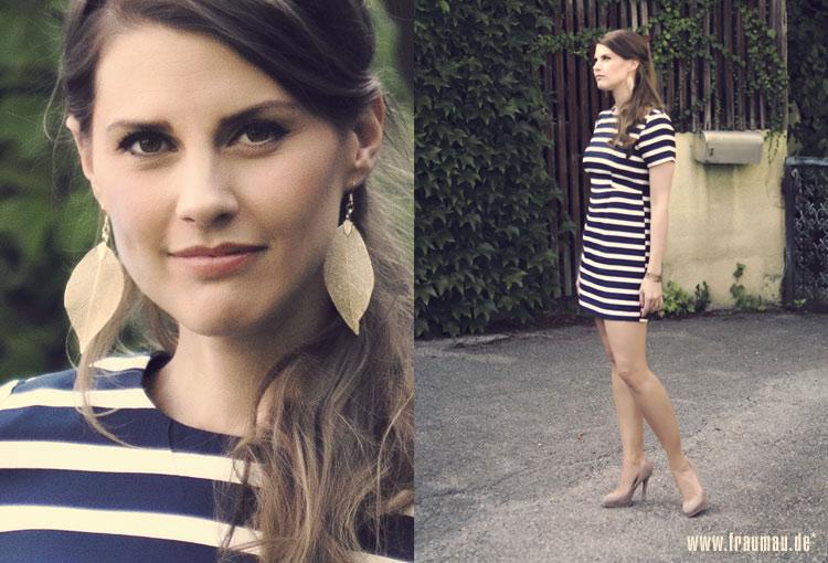 Streifenkleid Striped Dress H und M Zara by fraumau