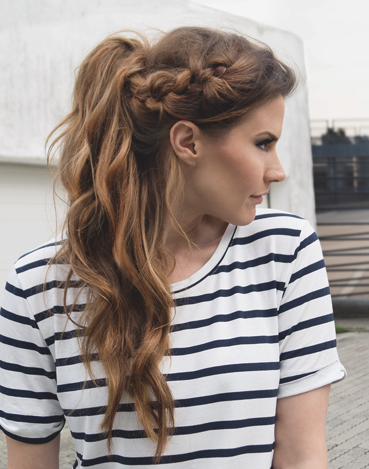Braided Messy Ponytail by fraumau.de #braided #messy #ponytail