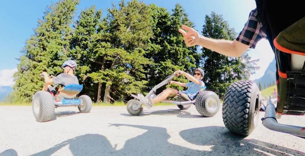 Flo und Ben im Mountain Cart im Montafon Gargellen