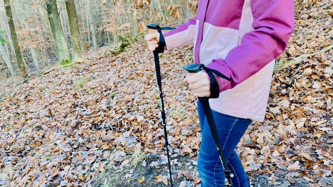 Gipfelsport Wanderstöcke mit ergonomischen Korggriff und Schlaufe