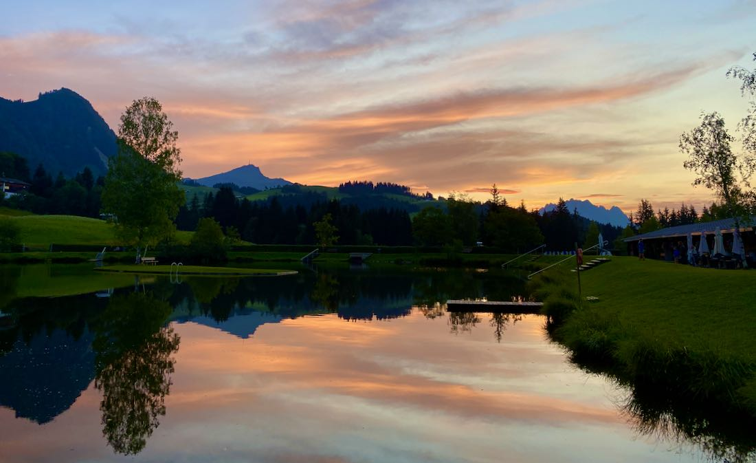 Sonnenuntergang am Lauchsee