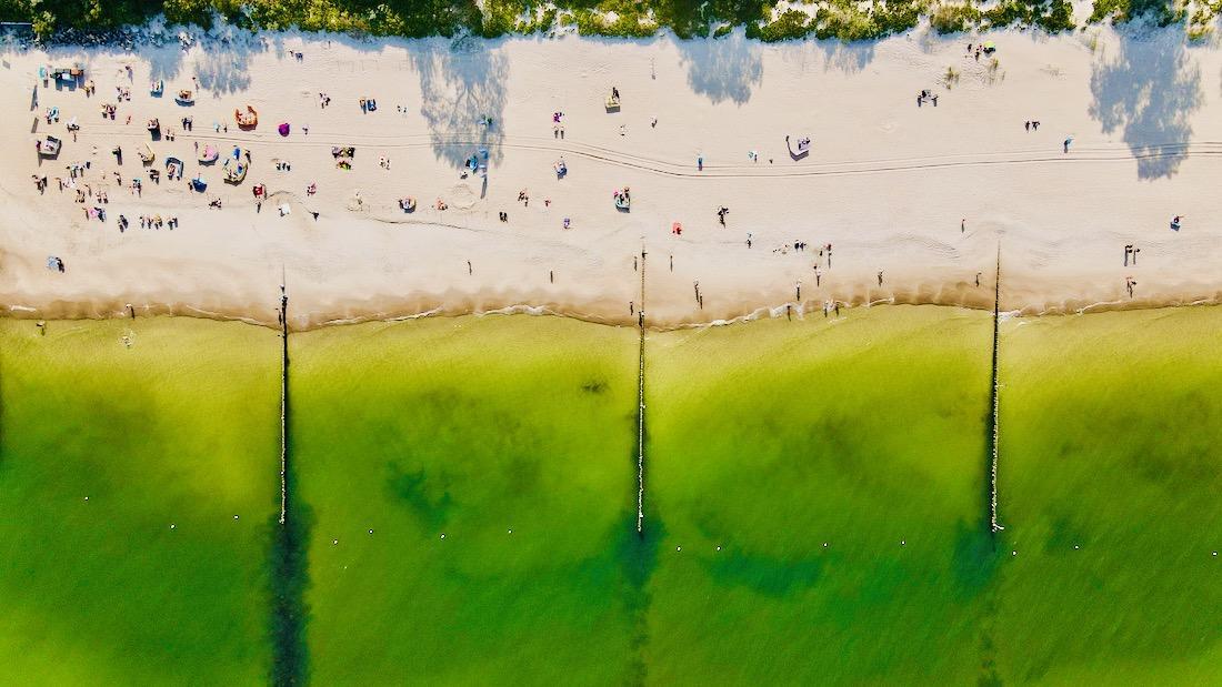Strand aus der Luft - Kolberg DJI Mavic Air 2