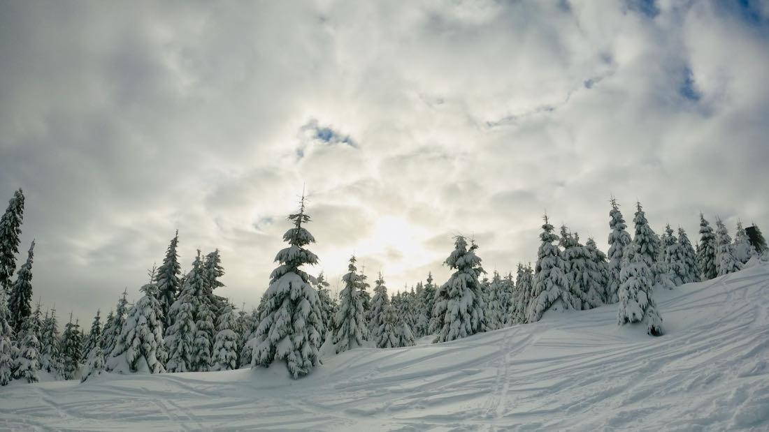 Der Fichtelberg im Winter
