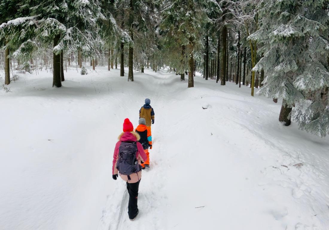 Winterwandern am Fichtelberg in Oberwiesenthal