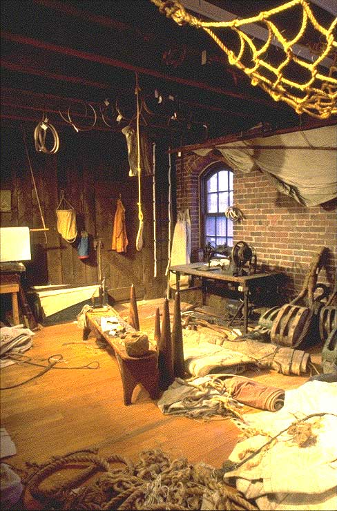Sailmaking tools and items