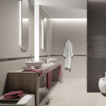 salle de bains carrelage et mobilier