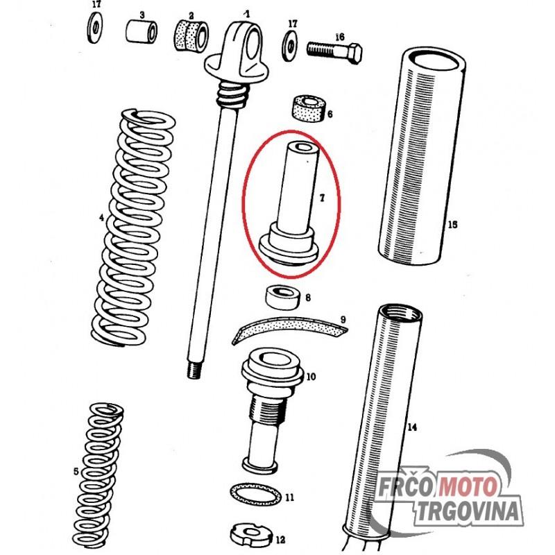 Guide for rear shock absorber Tomos APN 4 , 14V , 14TLS
