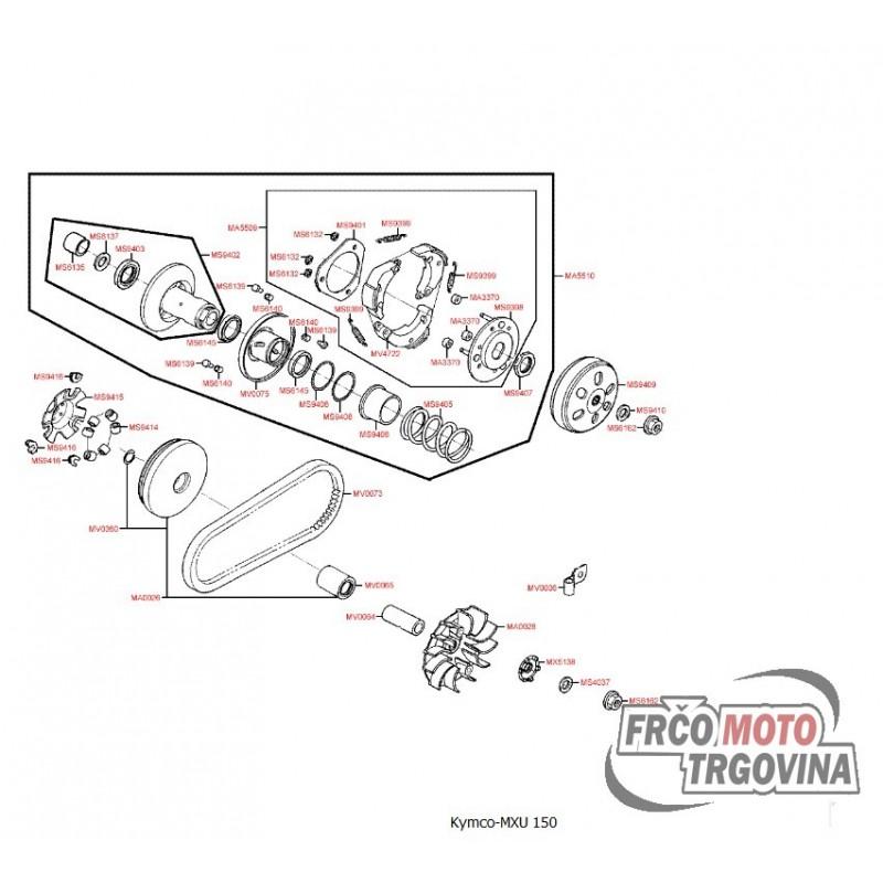 Prednja remenica Kymco Grand Dink 125 , MXU 150 , Yager GT
