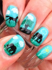 polish claws with pet-themed
