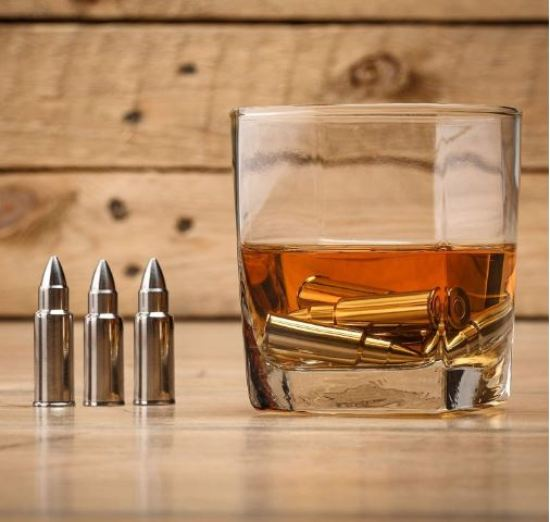 Bullet shaped whiskey stones