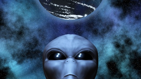 alien with planet