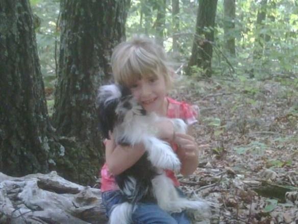 Madyson with dog