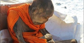 Mummified monk