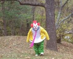 clown in woods