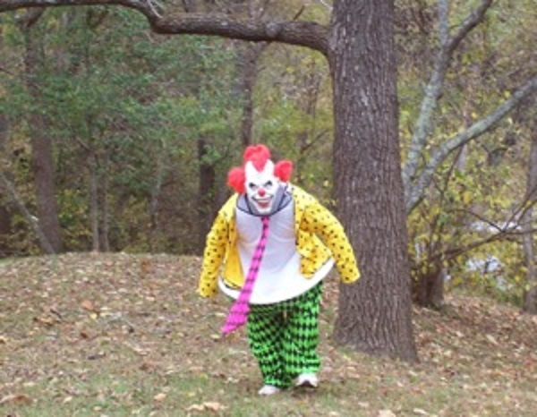 clown in woods