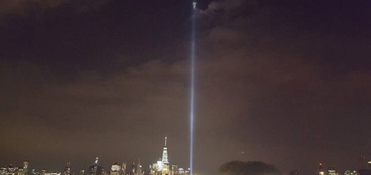 Twin tower tribute reveals apparition