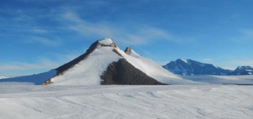 Snow pyramids pierce through Antarctica