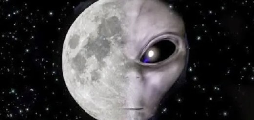 Aliens inhabit the moon and watch our every move