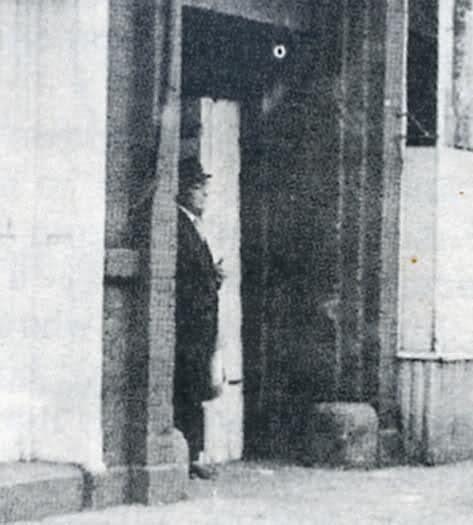 man in black photo