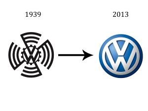volkswagen logo over years